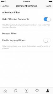 Instagram قابلیت حذف کامنت های توهین آموز را معرفی کرد 169x300 حذف خودکار کامنت های توهین آمیز اینستاگرام