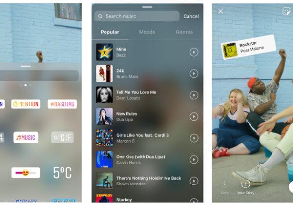 instagram add music to story 600x420 به استوریهای اینستاگرام موزیک دلخواه خود را اضافه کنید
